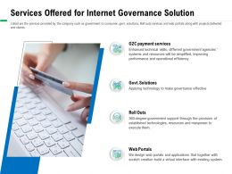 Services Offered For Internet Governance Solution Existing Ppt Powerpoint Presentation Template