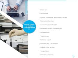 Services Offered For Medical Services Proposal Social Ppt Powerpoint Presentation Styles