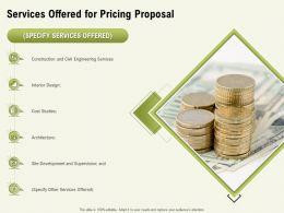 Services Offered For Pricing Proposal Ppt Powerpoint Presentation Pictures Example Introduction