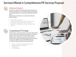 Services Offered In Comprehensive PR Services Proposal Ppt Show Maker