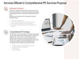 Services Offered In Comprehensive PR Services Proposal Ppt Show Maker