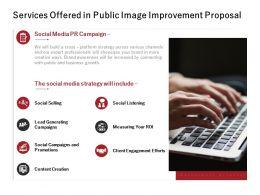 Services Offered In Public Image Improvement Proposal Ppt Slides