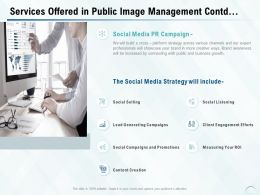Services Offered In Public Image Management Contd Ppt Powerpoint Presentation Professional