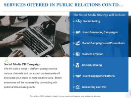 Services Offered In Public Relations Contd Ppt Powerpoint Presentation Ideas Good