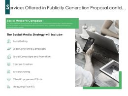 Services Offered In Publicity Generation Proposal Contd Ppt Powerpoint Presentation Gallery