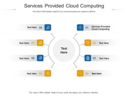 Services Provided Cloud Computing Ppt Powerpoint Presentation Show Example Topics Cpb