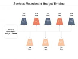 Services Recruitment Budget Timeline Ppt Powerpoint Presentation Portfolio Background Image Cpb