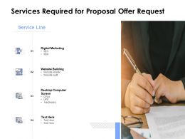 Services Required For Proposal Offer Request Ppt Powerpoint Visual