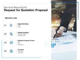 Services Required For Request For Quotation Proposal Ppt Inspiration Slides