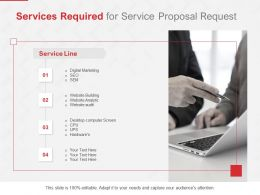 Services Required For Service Proposal Request Ppt Powerpoint Ideas