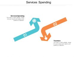Services Spending Ppt Powerpoint Presentation File Slideshow Cpb