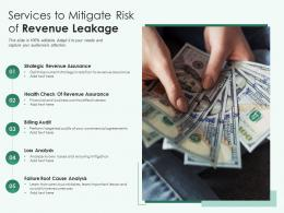 Services To Mitigate Risk Of Revenue Leakage