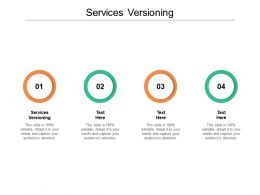 Services Versioning Ppt Powerpoint Presentation Icon Design Ideas Cpb