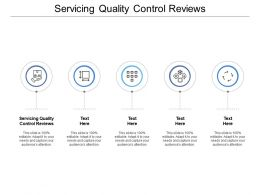 Servicing Quality Control Reviews Ppt Powerpoint Presentation Pictures Graphics Cpb
