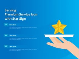 Serving Premium Service Icon With Star Sign