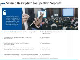 Session Description For Speaker Proposal Ppt Powerpoint Presentation Slides