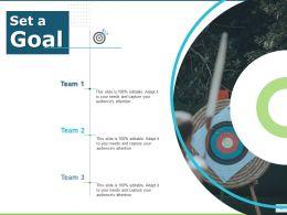 Set A Goal Arrows Success D68 Ppt Powerpoint Presentation Infographics Background