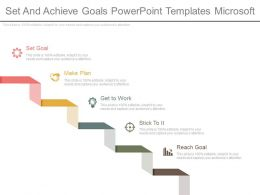 Set And Achieve Goals Powerpoint Templates Microsoft