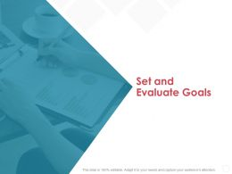 Set And Evaluate Goals Agenda Ppt Powerpoint Presentation Gallery Ideas
