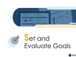 Set And Evaluate Goals Target A225 Ppt Powerpoint Presentation File Visuals