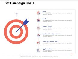 Set Campaign Goals App Promotion Ppt Powerpoint Presentation Infographics Example