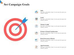 Set Campaign Goals Website Traffic Ppt Powerpoint Presentation Background Designs