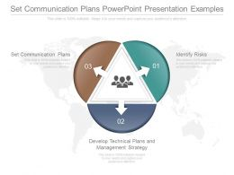 Set Communication Plans Powerpoint Presentation Examples
