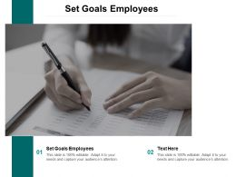 Set Goals Employees Ppt Powerpoint Presentation Portfolio Templates Cpb