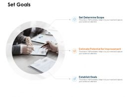 Set Goals Improvement Ppt Powerpoint Presentation Infographics Clipart