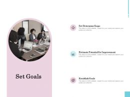 Set Goals Improvement Ppt Powerpoint Presentation Infographics Designs