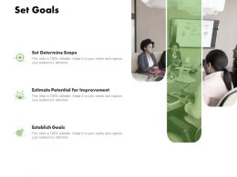 Set Goals Improvement Ppt Powerpoint Presentation Layouts Topics