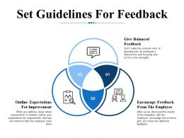 Set Guidelines For Feedback Ppt Infographic Template Smartart