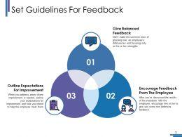 Set Guidelines For Feedback Ppt Portfolio Background Image