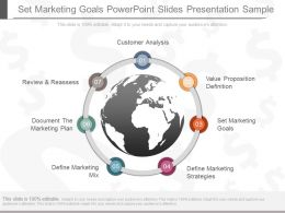 Set Marketing Goals Powerpoint Slides Presentation Sample