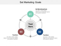 Set Marketing Goals Ppt Powerpoint Presentation Summary Guide Cpb