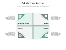Set Merchant Account Ppt Powerpoint Presentation Summary Design Templates Cpb