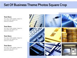 Set Of Business Theme Photos Square Crop