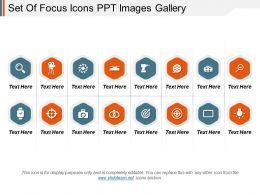 Set Of Focus Icons Ppt Images Gallery