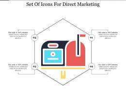 Set Of Icons For Direct Marketing