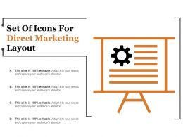 Set Of Icons For Direct Marketing Layout
