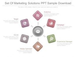 Set Of Marketing Solutions Ppt Sample Download