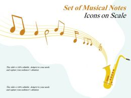 Set Of Musical Notes Icons On Scale