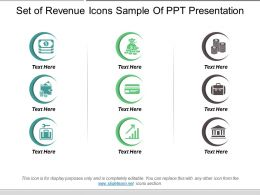 Set Of Revenue Icons Sample Of Ppt Presentation