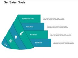 Set Sales Goals Ppt Powerpoint Presentation Outline Gridlines Cpb