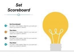 Set Scoreboard Ppt Powerpoint Presentation Styles Format Cpb