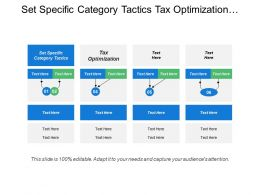 Set Specific Category Tactics Tax Optimization Education Planning