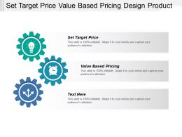 Set Target Price Value Based Pricing Design Product