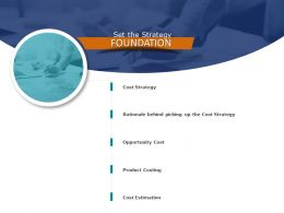 Set The Strategy Foundation Product Costing Ppt Powerpoint Presentation File Introduction