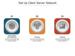 Set Up Client Server Network Ppt Powerpoint Presentation Infographic Template Topics Cpb
