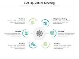 Set Up Virtual Meeting Ppt Powerpoint Presentation Gallery Graphics Design Cpb